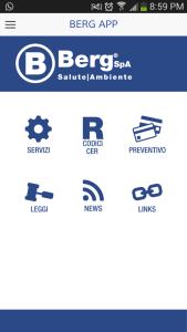 App Berg SpA - Individua codice cer corretto