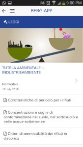 App Berg SpA - Normative sulla tutela ambientale