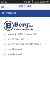 App Berg SpA per ioS e Android